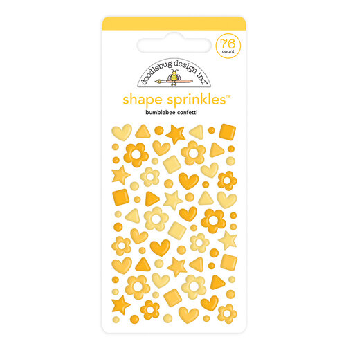 Doodlebug Design - Confetti Shape Sprinkles Collection - Bumblebee