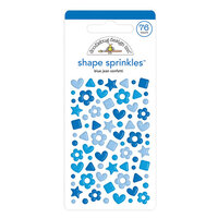 Doodlebug Design - Confetti Shape Sprinkles Collection - Blue Jean
