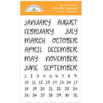 Doodlebug Design - All Occasion Collection - Clear Photopolymer Stamps - Calendar - Handwritten