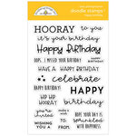 Doodlebug Design - All Occasion Collection - Clear Photopolymer Stamps - Happy Birthday