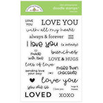 Doodlebug Design - All Occasion Collection - Clear Photopolymer Stamps - Love You