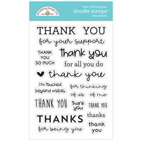 Doodlebug Design - All Occasion Collection - Clear Photopolymer Stamps - Many Thanks