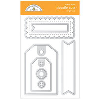 Doodlebug Design - All Occasion Collection - Doodle Cuts Dies - Large Tags