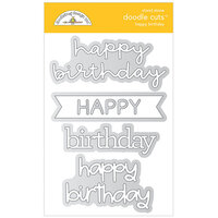 Doodlebug Design - All Occasion Collection - Doodle Cuts Dies - Happy Birthday