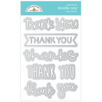 Doodlebug Design - All Occasion Collection - Doodle Cuts Dies - Many Thanks