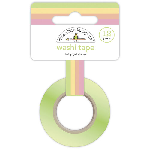 Doodlebug Design - Bundle of Joy Collection - Washi Tape - Baby Girl Stripes