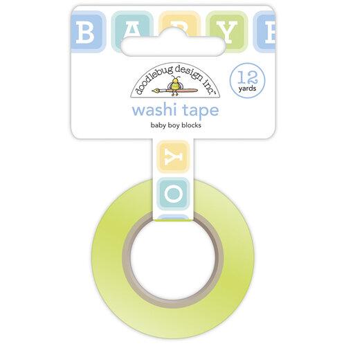 Doodlebug Design - Special Delivery Collection - Washi Tape - Baby Boy Blocks