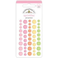 Doodlebug Design - Bundle of Joy Collection - Self Adhesive Assortment Sprinkles - Baby Girl