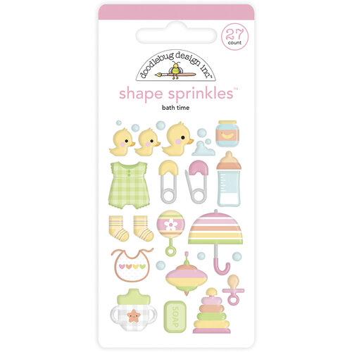 Doodlebug Design - Bundle of Joy Collection - Self Adhesive Shape Sprinkles - Bath Time