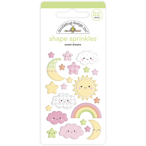 Doodlebug Design - Bundle of Joy Collection - Self Adhesive Shape Sprinkles - Sweet Dreams