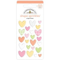 Doodlebug Design - Bundle of Joy Collection - Self Adhesive Shape Sprinkles - Snugs and Kisses