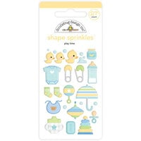 Doodlebug Design - Special Delivery Collection - Self Adhesive Shape Sprinkles - Play Time