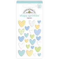 Doodlebug Design - Special Delivery Collection - Self Adhesive Shape Sprinkles - Baby Love