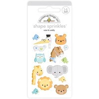 Doodlebug Design - Special Delivery Collection - Self Adhesive Shape Sprinkles - Cute and Cuddly