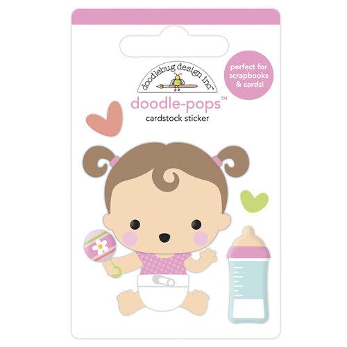 Doodlebug Design - Bundle of Joy Collection - Doodle-Pops - 3 Dimensional Cardstock Stickers - Sweet Girl