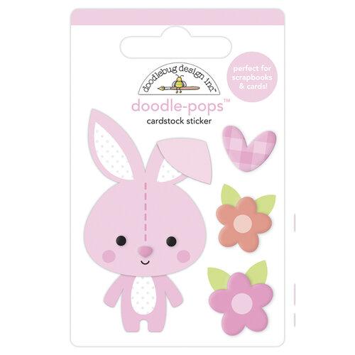 Doodlebug Design - Bundle of Joy Collection - Doodle-Pops - 3 Dimensional Cardstock Stickers - Snuggle Bunny
