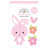Doodlebug Design - Bundle of Joy Collection - Doodle-Pops - 3 Dimensional Cardstock Stickers - Snuggle Bunny