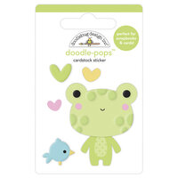 Doodlebug Design - Bundle of Joy Collection - Doodle-Pops - 3 Dimensional Cardstock Stickers - Hoppy Day