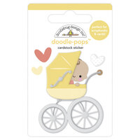 Doodlebug Design - Bundle of Joy Collection - Doodle-Pops - 3 Dimensional Cardstock Stickers - Out For A Stroll