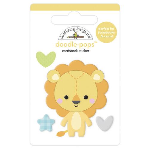 Doodlebug Design - Special Delivery Collection - Doodle-Pops - 3 Dimensional Cardstock Stickers - Lovable Lion