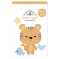 Doodlebug Design - Special Delivery Collection - Doodle-Pops - 3 Dimensional Cardstock Stickers - Cuddly Cub