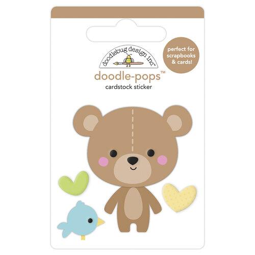 Doodlebug Design - Special Delivery Collection - Doodle-Pops - 3 Dimensional Cardstock Stickers - Bear Hug
