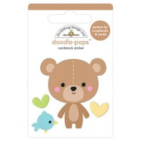 Doodlebug Design - Special Delivery Collection - Doodle-Pops - 3 Dimensional Cardstock Stickers - Bear Hug