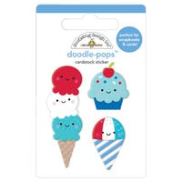 Doodlebug Design - Land That I Love Collection - Doodle-Pops - 3 Dimensional Cardstock Stickers - Summer Sweets