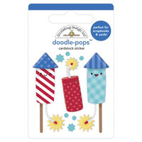 Doodlebug Design - Land That I Love Collection - Doodle-Pops - 3 Dimensional Cardstock Stickers - Firecrackers
