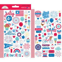 Doodlebug Design - Land That I Love Collection - Cardstock Stickers - Mini Icons
