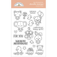 Doodlebug Design - Bundle of Joy Collection - Clear Photopolymer Stamps - Nursery Friends