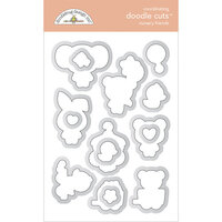 Doodlebug Design - Bundle of Joy Collection - Doodle Cuts Dies - Nursery Friends