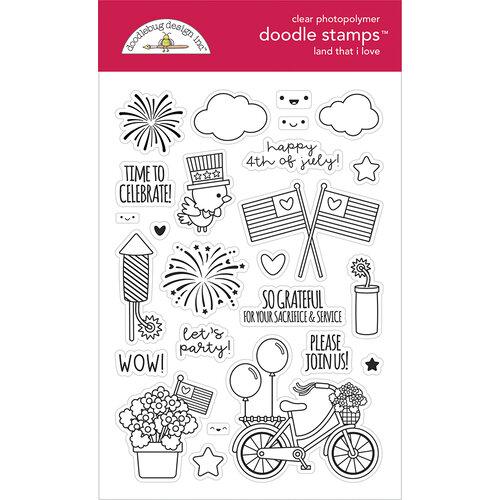 Doodlebug Design - Land That I Love Collection - Clear Photopolymer Stamps