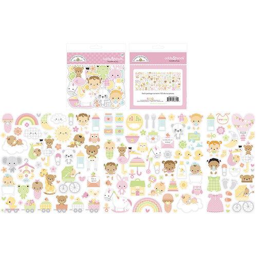 Doodlebug Design - Bundle of Joy Collection - Odds and Ends - Die Cut Cardstock Pieces