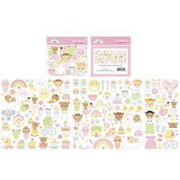 Doodlebug Design - Bundle of Joy Collection - Odds and Ends - Die Cut Cardstock Pieces