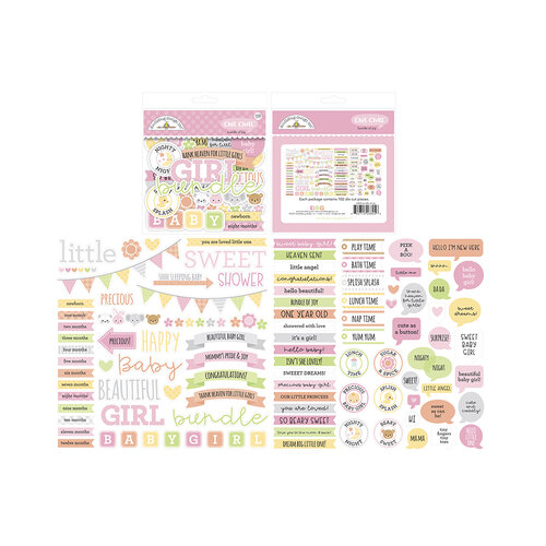 Doodlebug Design - Bundle of Joy Collection - Chit Chat - Die Cut Cardstock Pieces