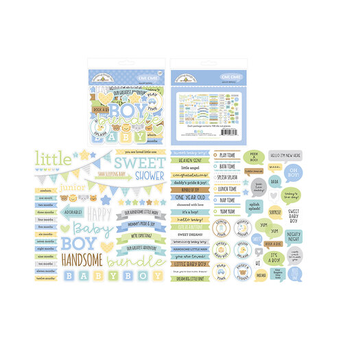 Doodlebug Design - Special Delivery Collection - Chit Chat - Die Cut Cardstock Pieces