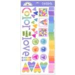 Doodlebug Design - Cardstock Stickers - Color of Love