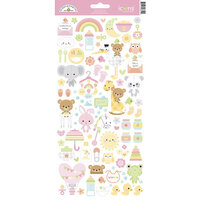 Doodlebug Design - Bundle of Joy Collection - Cardstock Stickers - Icons