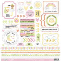 Doodlebug Designs - Bundle of Joy Collection - 12 x 12 Cardstock Stickers - This and That