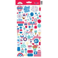 Doodlebug Design - Land That I Love Collection - Cardstock Stickers - Icons