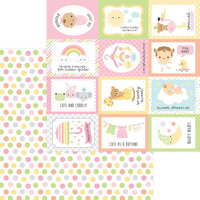 Doodlebug Design - Bundle of Joy Collection - 12 x 12 Double Sided Paper - Cute As A Button