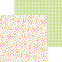 Doodlebug Design - Bundle of Joy Collection - 12 x 12 Double Sided Paper - Baby Blooms
