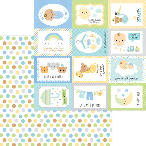 Doodlebug Design - Special Delivery Collection - 12 x 12 Double Sided Paper - Play Time
