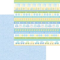 Doodlebug Design - Special Delivery Collection - 12 x 12 Double Sided Paper - It's A Boy