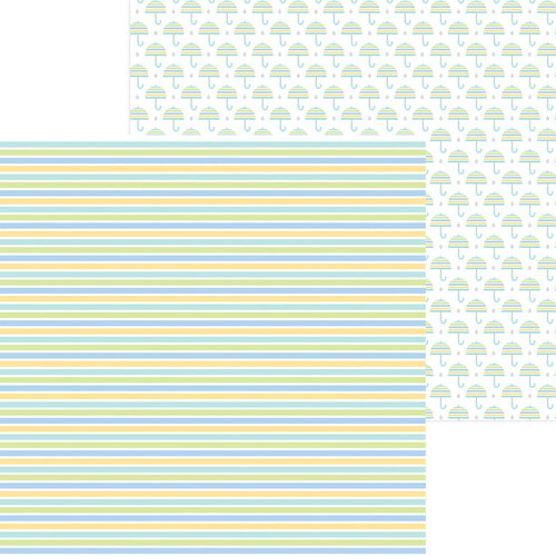 Doodlebug Design - Special Delivery Collection - 12 x 12 Double Sided Paper - Nursery Stripe