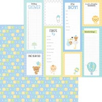 Doodlebug Design - Special Delivery Collection - 12 x 12 Double Sided Paper - Baby Blocks