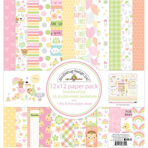 Doodlebug Design - Bundle of Joy Collection - 12 x 12 Paper Pack
