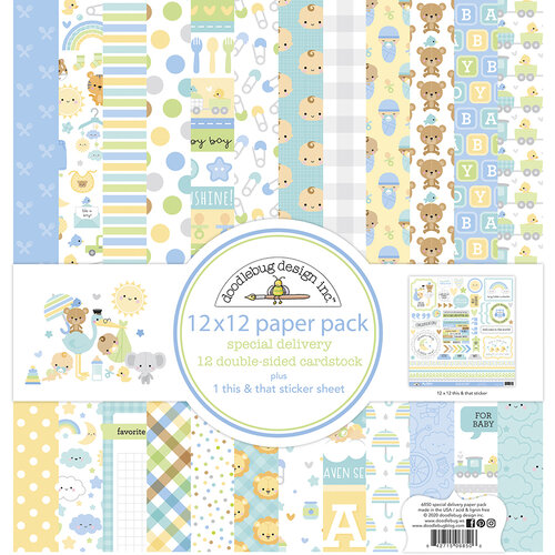 Doodlebug Design - Special Delivery Collection - 12 x 12 Paper Pack