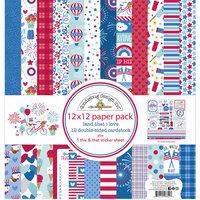Doodlebug Design - Land That I Love Collection - 12 x 12 Paper Pack